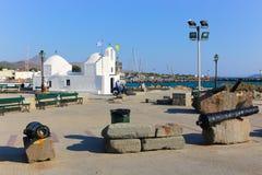 教会在埃伊纳岛,希腊 免版税库存照片