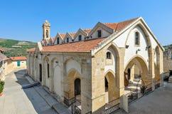 教会在塞浦路斯正统修道院里 免版税库存照片