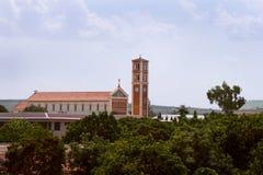 教会在多多马镇(坦桑尼亚) 免版税库存照片