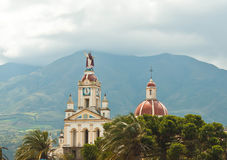 教会在安第斯山脉 免版税库存照片