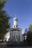 教会在山姆sergei修道院,俄联盟 免版税图库摄影