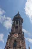 教会在市弗莱堡在德国 免版税库存图片