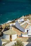 教会在斯科派洛斯岛,希腊 库存图片