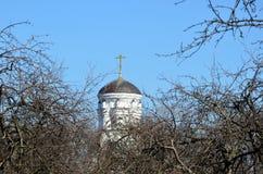 教会在早期的春天 图库摄影