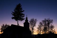 教会在晚上我 免版税库存照片