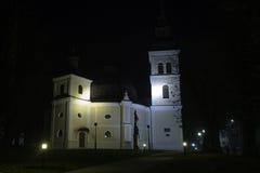 教会在晚上,达鲁瓦尔 库存图片