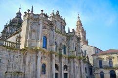 教会在晴朗的夏日,西班牙 库存照片