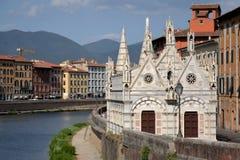 教会在比萨,意大利 库存照片