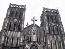 教会在河内 免版税库存照片