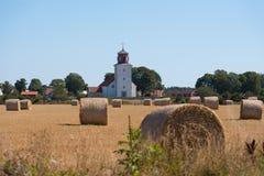 教会在海岛Oeland,瑞典上的村庄Gardby 免版税库存照片