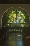 教会在海滨del卡门 库存图片