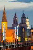教会在考纳斯,立陶宛 免版税库存照片