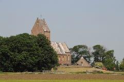 教会在荷兰村庄 图库摄影