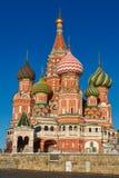 教会在莫斯科-圣蓬蒿的大教堂 库存图片