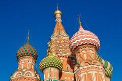 教会在莫斯科-圣蓬蒿的大教堂 免版税库存照片
