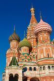 教会在莫斯科-圣蓬蒿的大教堂 免版税图库摄影