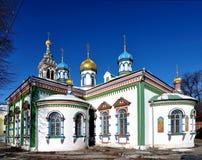 教会在莫斯科 库存图片