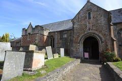 教会在萨默塞特,英国 库存照片