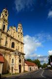 教会在郊区 Subaciaus街道 维尔纽斯 立陶宛 库存照片