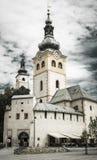 教会在镇Banska Bystrica,斯洛伐克里 免版税图库摄影