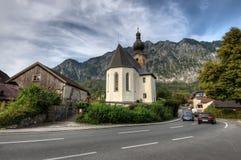 教会在阿尔卑斯 免版税库存图片