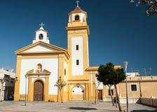 教会在阿尔梅里雅市 库存图片