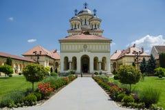 教会在阿尔巴尤利亚 免版税库存图片
