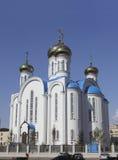 教会在阿斯塔纳。 卡扎克斯坦。 免版税库存图片