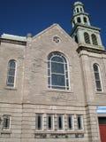 教会在魁北克市 免版税库存图片