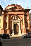 教会在费拉拉,意大利 库存照片