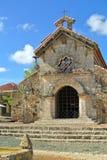 教会在Altos de Chavon Village 免版税库存照片