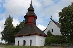 教会在Askainen 库存照片