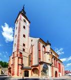 教会在Banska Bystrica 免版税库存照片