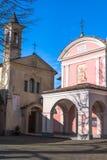教会在Barolo,意大利 图库摄影