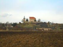 教会在beautifull国家在中部在欧洲,捷克 库存图片