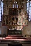 教会在Biertan在罗马尼亚 免版税库存图片