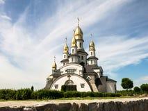 教会在Buky村庄,基辅地区,乌克兰 库存照片