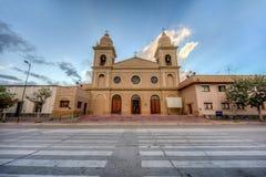 教会在Cafayate在Salta阿根廷。 免版税图库摄影