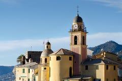 教会在Camogli 免版税库存照片