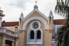 教会在Casco Viejo,巴拿马城 库存照片
