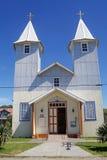 教会在Chacao村庄, Chiloe海岛,智利 免版税图库摄影