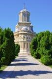 教会在Curtea de Arges,罗马尼亚 免版税库存照片