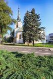 教会在Dolny Kubin在斯洛伐克, Orava 库存图片