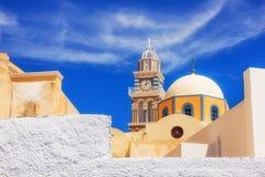 教会在Fira, Santorini 免版税库存图片