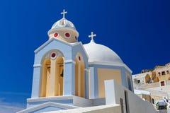 教会在Fira, Santorini 库存图片