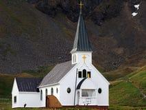教会在Grytviken 图库摄影