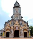教会在Kenh Ga村庄 免版税库存照片