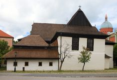教会在Kezmarok 免版税库存图片
