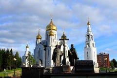 教会在Khanty-Mansiysk 免版税库存图片