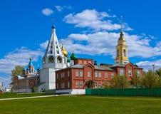 教会在Kolomna克里姆林宫-莫斯科地区-俄罗斯 免版税库存图片